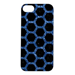 Hexagon2 Black Marble & Blue Marble (r) Apple Iphone 5s/ Se Hardshell Case by trendistuff