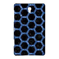 Hexagon2 Black Marble & Blue Marble (r) Samsung Galaxy Tab S (8 4 ) Hardshell Case  by trendistuff