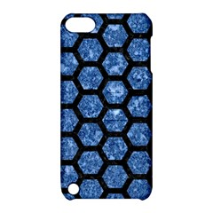 Hexagon2 Black Marble & Blue Marble Apple Ipod Touch 5 Hardshell Case With Stand by trendistuff