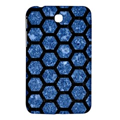 Hexagon2 Black Marble & Blue Marble Samsung Galaxy Tab 3 (7 ) P3200 Hardshell Case  by trendistuff