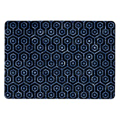 Hexagon1 Black Marble & Blue Marble (r) Samsung Galaxy Tab 10 1  P7500 Flip Case by trendistuff
