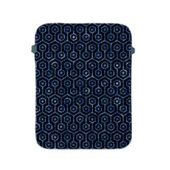 Hexagon1 Black Marble & Blue Marble (r) Apple Ipad 2/3/4 Protective Soft Case by trendistuff