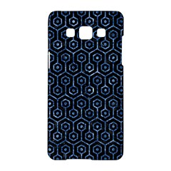 Hexagon1 Black Marble & Blue Marble (r) Samsung Galaxy A5 Hardshell Case