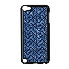 Hexagon1 Black Marble & Blue Marble Apple Ipod Touch 5 Case (black) by trendistuff