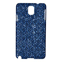 Hexagon1 Black Marble & Blue Marble Samsung Galaxy Note 3 N9005 Hardshell Case by trendistuff