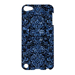 Damask2 Black Marble & Blue Marble (r) Apple Ipod Touch 5 Hardshell Case by trendistuff