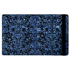 Damask2 Black Marble & Blue Marble (r) Apple Ipad 2 Flip Case by trendistuff