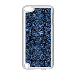 Damask2 Black Marble & Blue Marble (r) Apple Ipod Touch 5 Case (white) by trendistuff