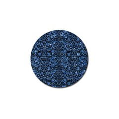 Damask2 Black Marble & Blue Marble Golf Ball Marker by trendistuff