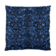 Damask2 Black Marble & Blue Marble Standard Cushion Case (two Sides) by trendistuff