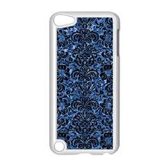 Damask2 Black Marble & Blue Marble Apple Ipod Touch 5 Case (white) by trendistuff