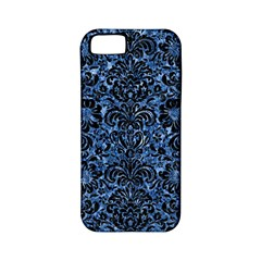 Damask2 Black Marble & Blue Marble Apple Iphone 5 Classic Hardshell Case (pc+silicone) by trendistuff