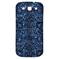 Damask2 Black Marble & Blue Marble Samsung Galaxy S3 S Iii Classic Hardshell Back Case by trendistuff