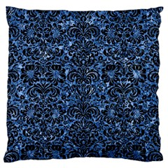Damask2 Black Marble & Blue Marble Standard Flano Cushion Case (one Side) by trendistuff