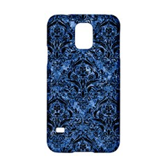 Damask1 Black Marble & Blue Marble (r) Samsung Galaxy S5 Hardshell Case