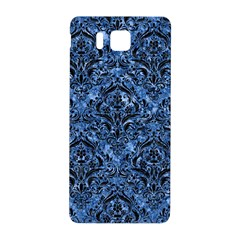 Damask1 Black Marble & Blue Marble (r) Samsung Galaxy Alpha Hardshell Back Case by trendistuff