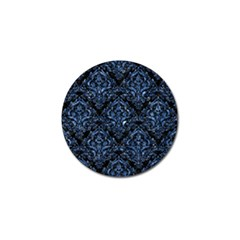 Damask1 Black Marble & Blue Marble Golf Ball Marker (4 Pack) by trendistuff