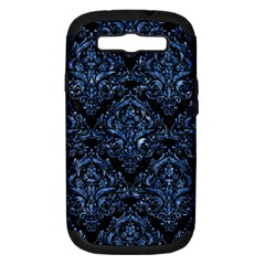 Damask1 Black Marble & Blue Marble Samsung Galaxy S Iii Hardshell Case (pc+silicone) by trendistuff