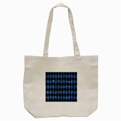Diamond1 Black Marble & Blue Marble Tote Bag (cream)