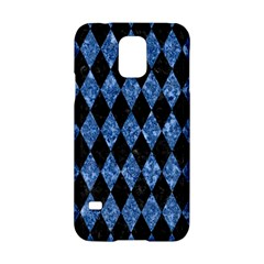 Diamond1 Black Marble & Blue Marble Samsung Galaxy S5 Hardshell Case  by trendistuff