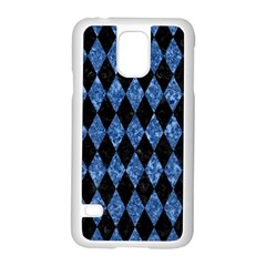 Diamond1 Black Marble & Blue Marble Samsung Galaxy S5 Case (white) by trendistuff