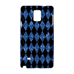 Diamond1 Black Marble & Blue Marble Samsung Galaxy Note 4 Hardshell Case by trendistuff