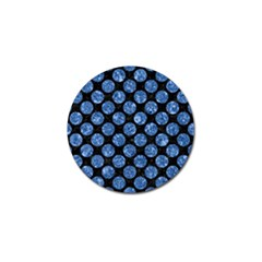 Circles2 Black Marble & Blue Marble (r) Golf Ball Marker (4 Pack)