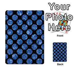 Circles2 Black Marble & Blue Marble (r) Multi Purpose Cards (rectangle) by trendistuff