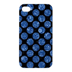 Circles2 Black Marble & Blue Marble (r) Apple Iphone 4/4s Premium Hardshell Case by trendistuff