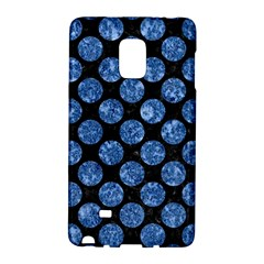 Circles2 Black Marble & Blue Marble (r) Samsung Galaxy Note Edge Hardshell Case by trendistuff