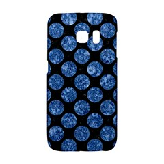 Circles2 Black Marble & Blue Marble (r) Samsung Galaxy S6 Edge Hardshell Case by trendistuff