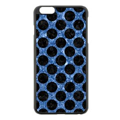 Circles2 Black Marble & Blue Marble Apple Iphone 6 Plus/6s Plus Black Enamel Case by trendistuff