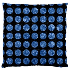 Circles1 Black Marble & Blue Marble (r) Standard Flano Cushion Case (one Side) by trendistuff