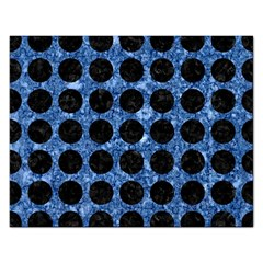 Circles1 Black Marble & Blue Marble Jigsaw Puzzle (rectangular) by trendistuff