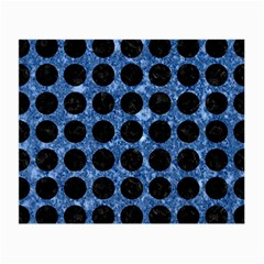 Circles1 Black Marble & Blue Marble Small Glasses Cloth by trendistuff