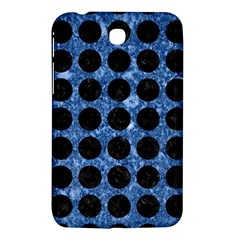 Circles1 Black Marble & Blue Marble Samsung Galaxy Tab 3 (7 ) P3200 Hardshell Case  by trendistuff