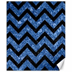 Chevron9 Black Marble & Blue Marble (r) Canvas 20  X 24  by trendistuff