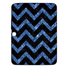 Chevron9 Black Marble & Blue Marble Samsung Galaxy Tab 3 (10 1 ) P5200 Hardshell Case  by trendistuff