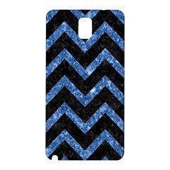 Chevron9 Black Marble & Blue Marble Samsung Galaxy Note 3 N9005 Hardshell Back Case by trendistuff