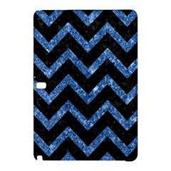 Chevron9 Black Marble & Blue Marble Samsung Galaxy Tab Pro 12 2 Hardshell Case by trendistuff