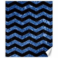 Chevron3 Black Marble & Blue Marble Canvas 8  X 10  by trendistuff