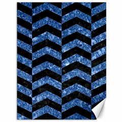 Chevron2 Black Marble & Blue Marble Canvas 36  X 48  by trendistuff
