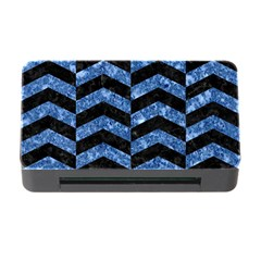 Chevron2 Black Marble & Blue Marble Memory Card Reader With Cf by trendistuff