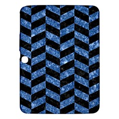 Chevron1 Black Marble & Blue Marble Samsung Galaxy Tab 3 (10 1 ) P5200 Hardshell Case  by trendistuff