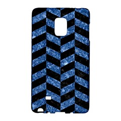 Chevron1 Black Marble & Blue Marble Samsung Galaxy Note Edge Hardshell Case by trendistuff