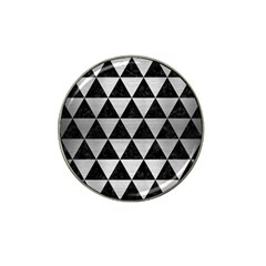 Triangle3 Black Marble & Silver Brushed Metal Hat Clip Ball Marker (4 Pack) by trendistuff