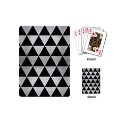 Triangle3 Black Marble & Silver Brushed Metal Playing Cards (mini) by trendistuff