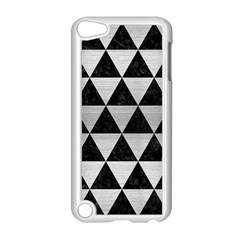 Triangle3 Black Marble & Silver Brushed Metal Apple Ipod Touch 5 Case (white)