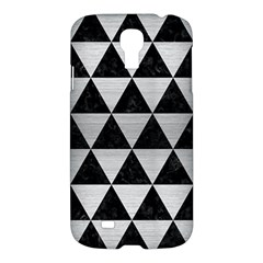 Triangle3 Black Marble & Silver Brushed Metal Samsung Galaxy S4 I9500/i9505 Hardshell Case by trendistuff