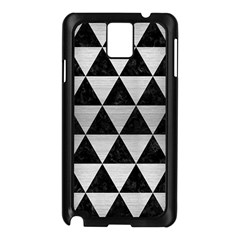 Triangle3 Black Marble & Silver Brushed Metal Samsung Galaxy Note 3 N9005 Case (black) by trendistuff